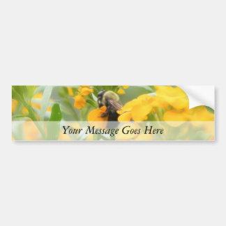 Bumble Bee On Siberian Wallflower Car Bumper Sticker