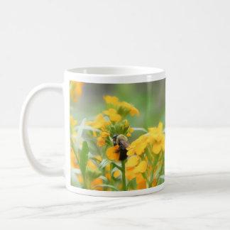 Bumble Bee On Siberian Wallflower Coffee Mug