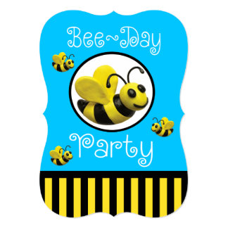 Bumble Bee Party Birthday Card