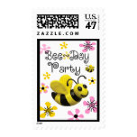 Bumble Bee Party Postage Stamp