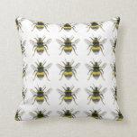 Bumble Bee Pattern Throw Cushion Throw Pillow