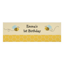 Bumble Bee Personalized Banner Sign