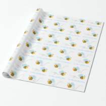 Bumble Bee Personalized Wrapping Paper