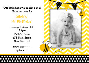Bumble bee birthday invitations announcements zazzle bumble bee photo birthday party invitations filmwisefo