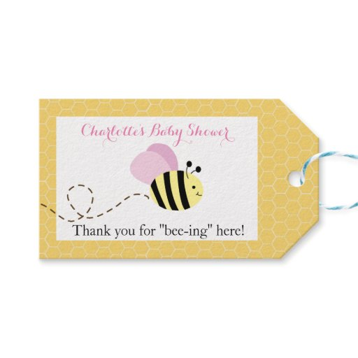 Bumble Bee Pink Wings #2 Gift Tags