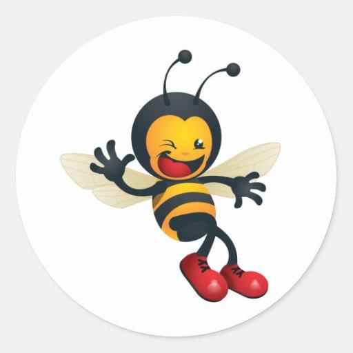 bumble_bee.png pegatina redonda