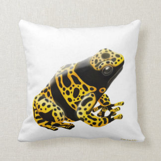 Bumble Bee Poison Dart Frog Pillow