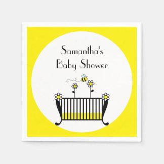 Bumble Bee Polka Dot Baby Shower Napkin