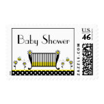 Bumble Bee Polka Dot Baby Shower Postage Stamp