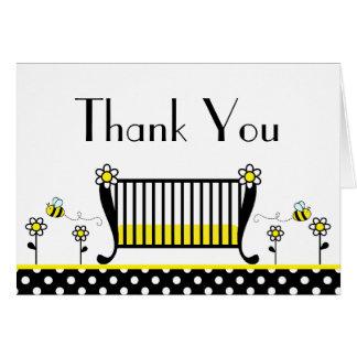 Bumble Bee Polka Dot Baby Shower Thank You Card