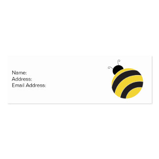 Bumble Bee Profile Card Double-Sided Mini Business Cards (Pack Of 20)