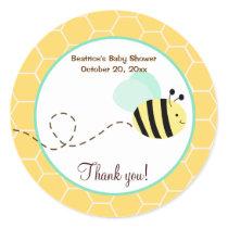 Bumble Bee Round Favor Sticker