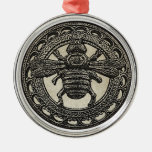 Bumble Bee Round Metal Christmas Ornament