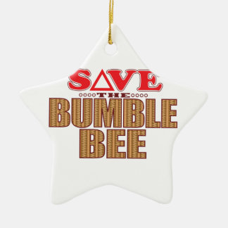 Bumble Bee Save Ceramic Ornament