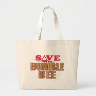 Bumble Bee Save Large Tote Bag