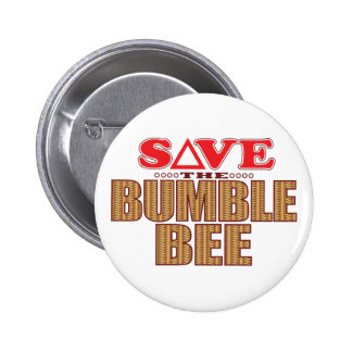 Bumble Bee Save Pinback Button