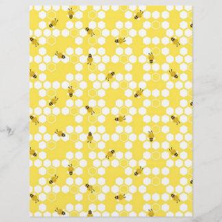 Bumble Bee Scrapbook Paper