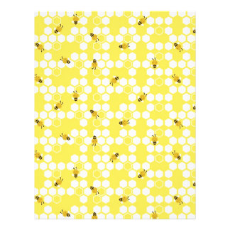 Bumble Bee Scrapbook Paper Dual-sided Personalized Flyer
