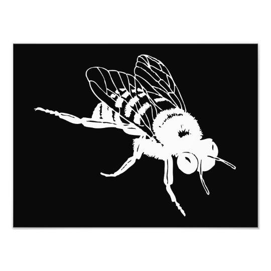 Bumble Bee Silhouette Photo Print