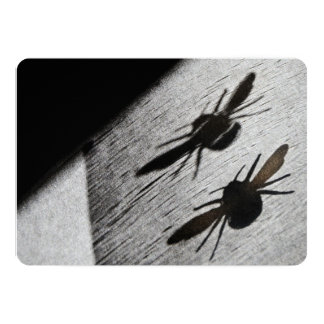 Bumble Bee Silhouette Shadow Card