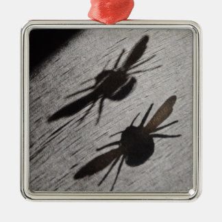 Bumble Bee Silhouette Shadow Metal Ornament