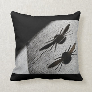 Bumble Bee Silhouette Shadow Pillow