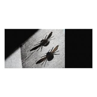 Bumble Bee Silhouette Shadow Rack Card