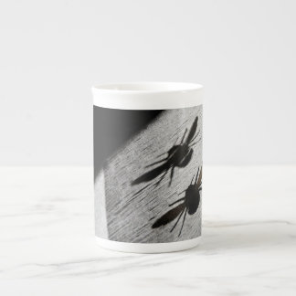 Bumble Bee Silhouette Shadow Tea Cup