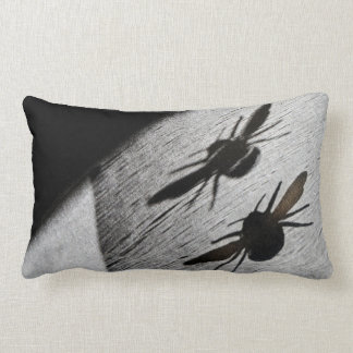 Bumble Bee Silhouette Shadow Throw Pillow