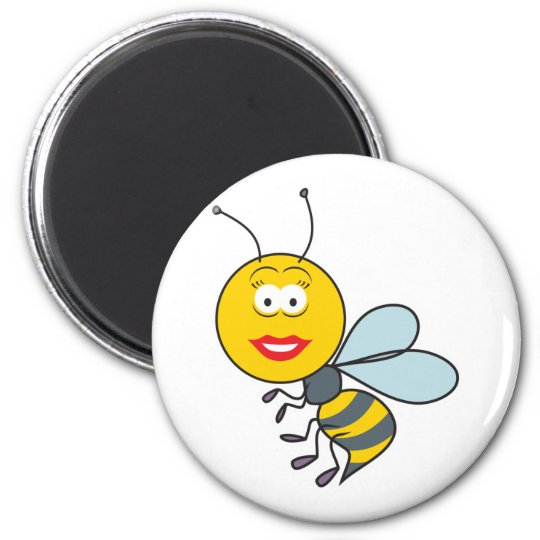 Bumble Bee Smiley Face Magnet