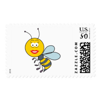 Bumble Bee Smiley Face Postage