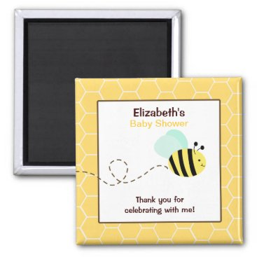 Bumble Bee Square Favor Magnet