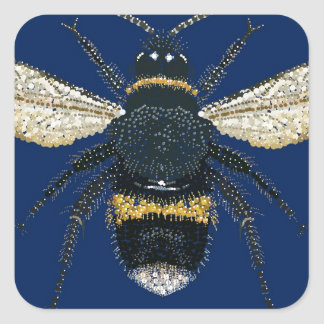 Bumble Bee Square Sticker