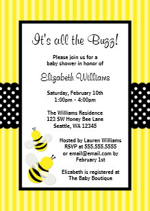 bee invitations zazzle