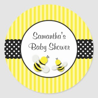 Bumble Bee Striped Polka Dots Baby Shower