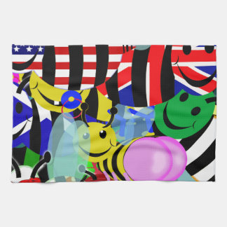 bumble bee swarm. kitchen towels