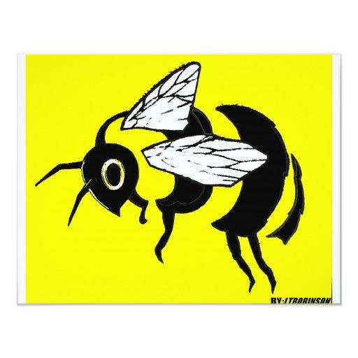 bumble bee tee card