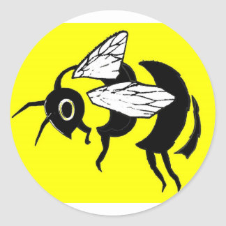bumble bee tee sticker
