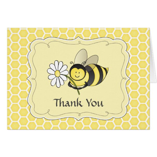 Bumble Bee Thank You Note Card
