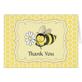Bumble Bee Thank You Note Greeting Card