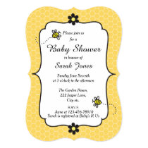 Bumble Bee Themed Baby Shower Invitation