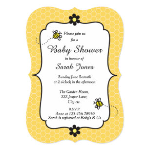 Bumble bee baby shower invitations announcements zazzle bumble bee themed baby shower invitation filmwisefo