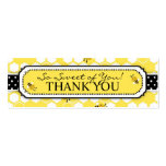 Bumble Bee TY Skinny Gift Tag 2 Double-Sided Mini Business Cards (Pack Of 20)