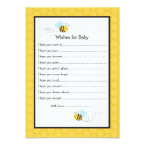 Bumble Bee Wishes for Baby Advice Cards