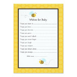Bumble Bee Wishes for Baby Advice Cards Personalized Invites