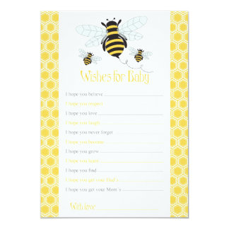 Bumble Bee Wishes for Baby Card-Baby Shower Game Card