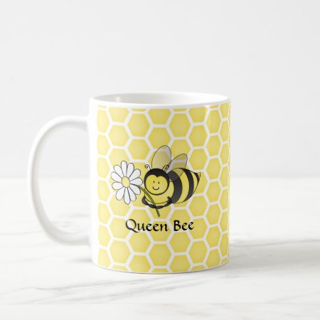 Bumble Bee with Daisy Coffee Mug