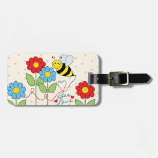 Bumble Bee With Flowers Address Tag For Luggage