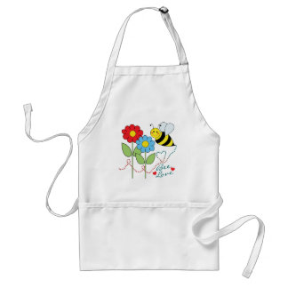 Bumble Bee With Flowers Bee Love Adult Apron