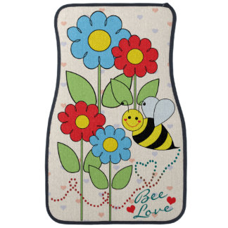 Bumble Bee With Flowers Bee Love Car Mat